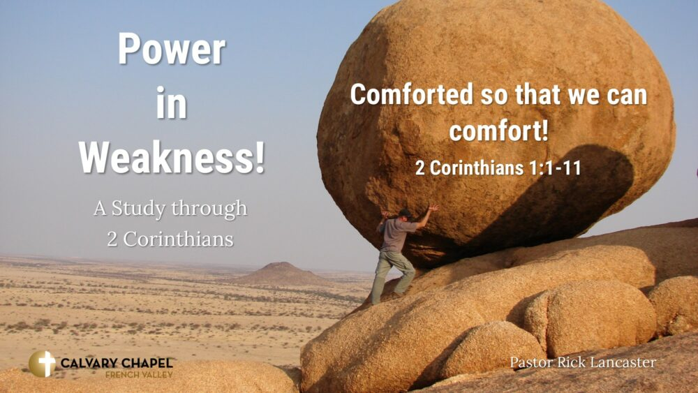 Comforted so that we can comfort! 2 Corinthians 1:1-11 Image