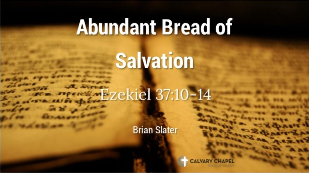 Brian Slater From Abundant Bread Of Salvation Image