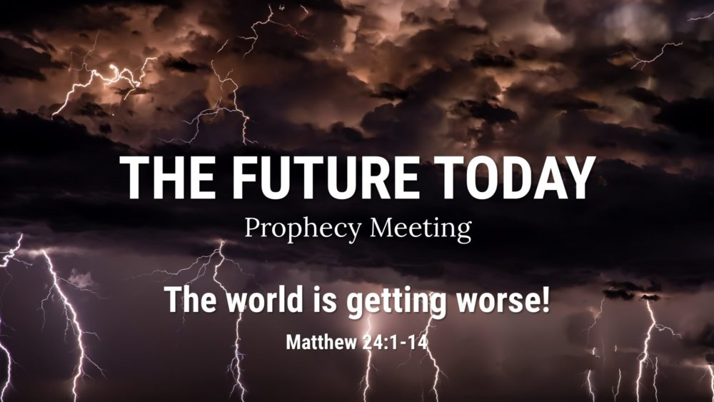 The world is getting worse! Matthew 24:1-14 - Lawlessness Image