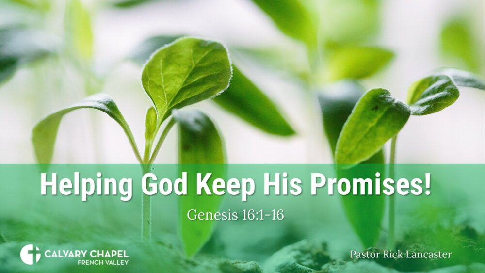 Helping God Keep His Promises! Genesis 16:1-16 Image