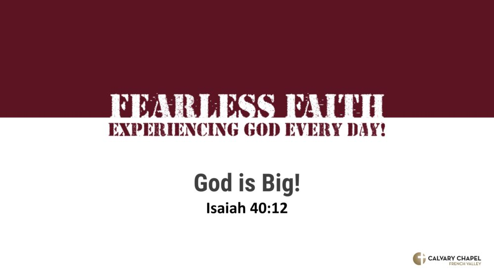 God is big! Isaiah 40:12 Image