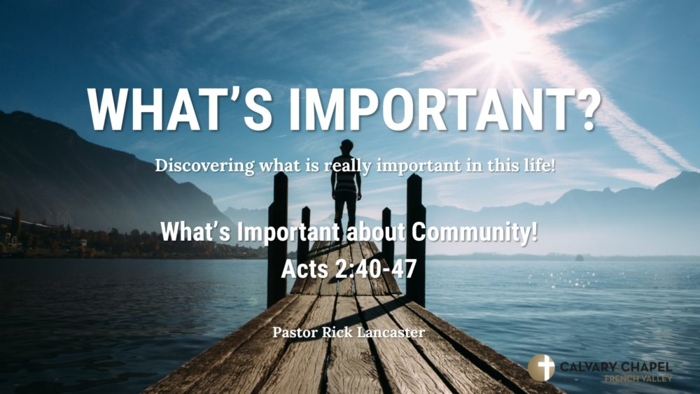 What's Important About Community! Image
